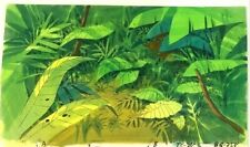 """Cadillacs and Dinosaurs 10"""" x 17""""  Production Hand Painted Background 1993"""