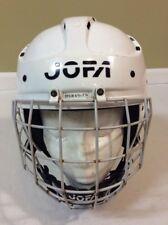 "Jofa White 395JR 6 1/2""-7 1/4""Ice Hockey Helmet W/ 386 JR Cage Mask"