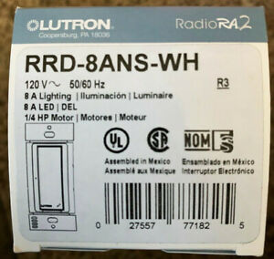 Lutron RRD-8ANS-WH Radio Ra2 RadioRA RA Switch - NEW IN BOX
