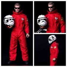 """1/6 Scale Accessories Racing Suits Red Locomotive Coverall For 12"""" Action Figure"""