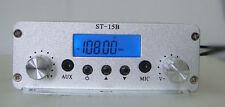 1.5W/15W stereo PLL FM transmitter broadcast radio station ST-15B 87-108MHZ RCA