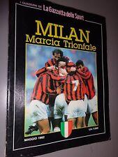 RARO BOOK MILAN MARCIA TRIONFALE CAMPIONE D`ITALIA 1991/1992 I QUADERNI GAZZETTA