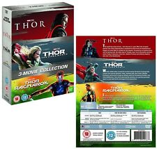 THOR 1-3 (2011 2013 2017):  DVD - Marvel, inc. Dark World + Ragnarok - NEW UK