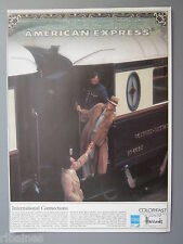 R&L Ex-Mag Advert: Colorfast American Express Harrods Max Factor Train No.4095