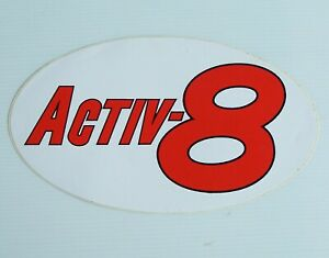 GENUINE ACTIV-8 LUBRICANTS LOGO RACING SPONSOR ADVERTISING PROMO CAR STICKER