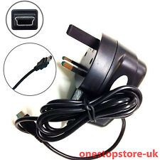UK MAINS CHARGER FOR TOM TOM 1 ONE V2 V3 V4 SAT NAV GPS AC WALL PLUG