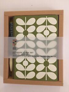 Orla Kiely Notebook & Pen Set in Presentation Box (60s Stem Seagrass Design)