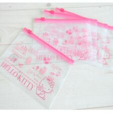 Sanrio Hello Kitty Clear Travel Multi Pouch Makeup Pouch Case Zipper Bag 5p Set