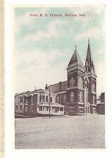 First M E Church Marion In Unused Methodist Episcopal Postcard 693