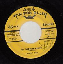HEAR! Teen 45 JIMMY DEE My Broken Heart! on Tin Pan Alley