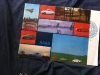1966 Saab 96 Sedan 95 Wagon and 850 Monte Carlo Color Brochure Catalog Prospekt