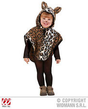 Childrens Leopard Fancy Dress Costume Jungle Cat Animal Outfit 1-2 Yrs