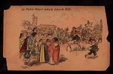 signed rotida pont-neuf sous louis XIII france postcard