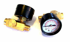 2 AIR PRESSURE REGULATORS WITH GAUGE 160 PSI MAX HOSE COMPRESSOR INLINE TOOL