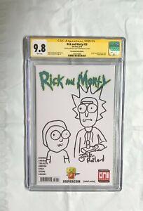 ORIGINAL ART Rick & Morty SIGNED JUSTIN ROILAND 9.8 CGC SS sketch 1 5 and season