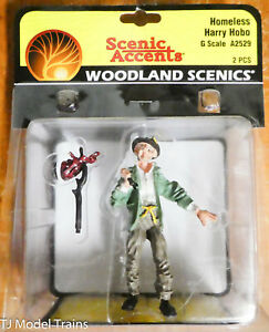 Woodland Scenics G Scale #2529 Homeless Harry Hobo (1:24th Scale)