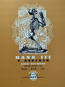 Hank III & Assjack Concert Poster Straight To Hell Original Screenprint RARE