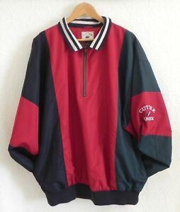 Cutter & Buck 1/2 Zip Pullover Long Sleeve Windbreaker Pockets Mesh Lined SizeLT