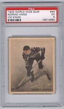 1933 WWG Ice Kings Hockey Card New York Americans #44 Normie Himes Graded PSA 5