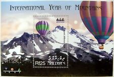 2002 MNH MALDIVES INT. YEAR OF THE MOUNTAINS STAMPS SOUVENIR SHEET LANDSCAPE