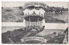 Greetings From Westcliff On Sea Essex Vintage Multiview Postcard 785b