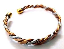 SLIM Flat Twisted Copper Bracelet Cuff Wristlet Wristband Kada Kara Men Women 26