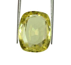 Yellow Sapphire Ceylon Gemstone Cushion 100% Natural 35.40 Ct Certified U8257