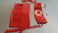 RED TELEPHONE BY NORTHERN ELECTRIC, CANADA. ROTATING DIAL. GREAT CONDITION.