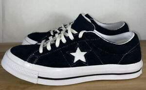 Converse One Star Low Black Suede Men's Size 9.5/ Women's 11.5 (158369C)