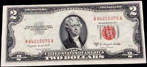 USA 2 Dollars,1953,Red Seal,AA,UNC