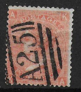 SG94. 4d.Vermilion Plate 12. Superb A25 Cancel Of Malta. A Fine Item. Ref.1163