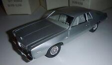 MPC 1977 DODGE MONACO 1/25 MODEL CAR MOUNTAIN SILVER DEALER PROMO