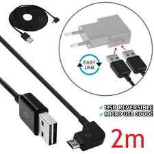 Cable Double-Side USB/Micro angle 90 Charging Data Sync Android Smartphone - 2m