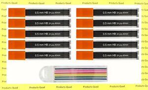 0.5 mm Mechanical pencil lead refills 240 .5mm pencil refills FREE COLOR