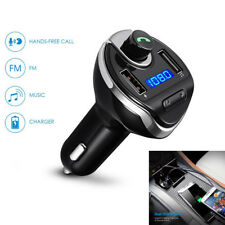 Wireless MP3 Player Bluetooth Handsfree FM Dual USB Car Charger Support TF Card