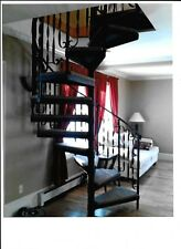 """The Spiral Staircase kit . It is 64"""" diameter  cedar wood on the steps ."""