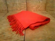Vintage Italy The Gap 100% Lambswool Bright Red Scarf with Fringe