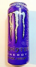 MONSTER ENERGY DRINK UNOPENED EMPTY CAN ULTRA VIOLET (£1.19 variant)