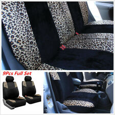 5 Seat Black Lush Velour Seat Cover Protectors
