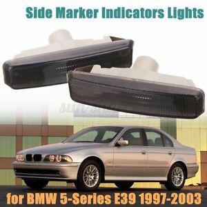 Smoked Side Marker Light Turn Signal Blinker Lamp For BMW E39 5 Series 1997~2003