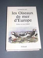 Ornithologie G. Dif les oiseaux de mer d'Europe guide ornithologique illustré