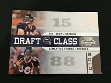 """TIM TEBOW ROOKIE INSERT """"CLASS OF 2010"""" DENVER BRONCOS RC PLAYOFF FOOTBALL CARD"""