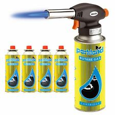 Blow Torch Butane 4 Gas Kit Cooking Catering Creme Brulee Culinary Tart Tool