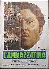 MANIFESTO, L'AMMAZZATINA, PINO CARUSO, QUATTRINI, SCHUBERT, ITALIAN POSTER