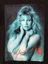 TRUE VTG. 1992- RHONDA SHEAR USA UP ALL NIGHT-BUSTY BLONDE -T-SHIRT-AHH BRA-EUC