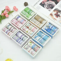 10 Rolls Washi Tape Decorative Scrapbooking Paper Adhesive Sticker Craft DIY Set