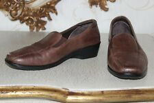 PAVERS Brown Genuine Soft Leather Ladies Flat Shoes Size 6