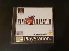 RARE COMPLETE - Final Fantasy VI + FFX Demo disc - PAL UK - PS1