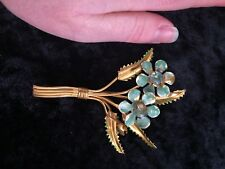 Large Enamel Antique Flower Brooch