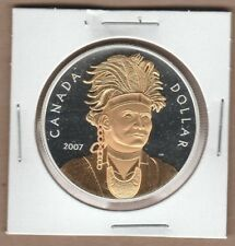 2007 Gold Plated Canada Silver Dollar from Proof Set Pure Silver Non Taxable